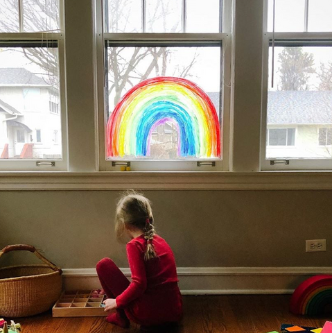 Why are people putting rainbows in their windows?
