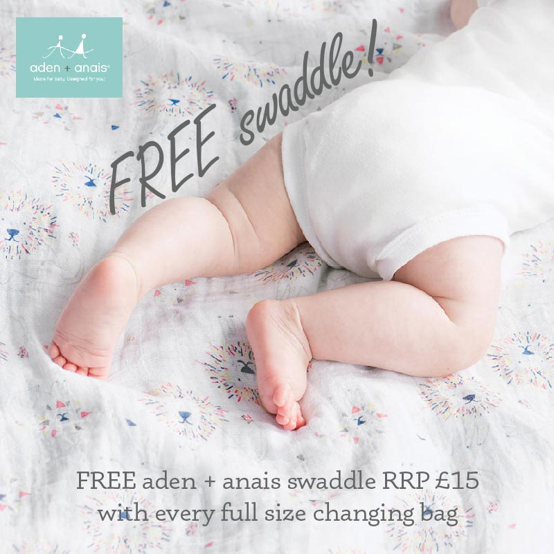qualifies for free aden + anais swaddle added at checkout