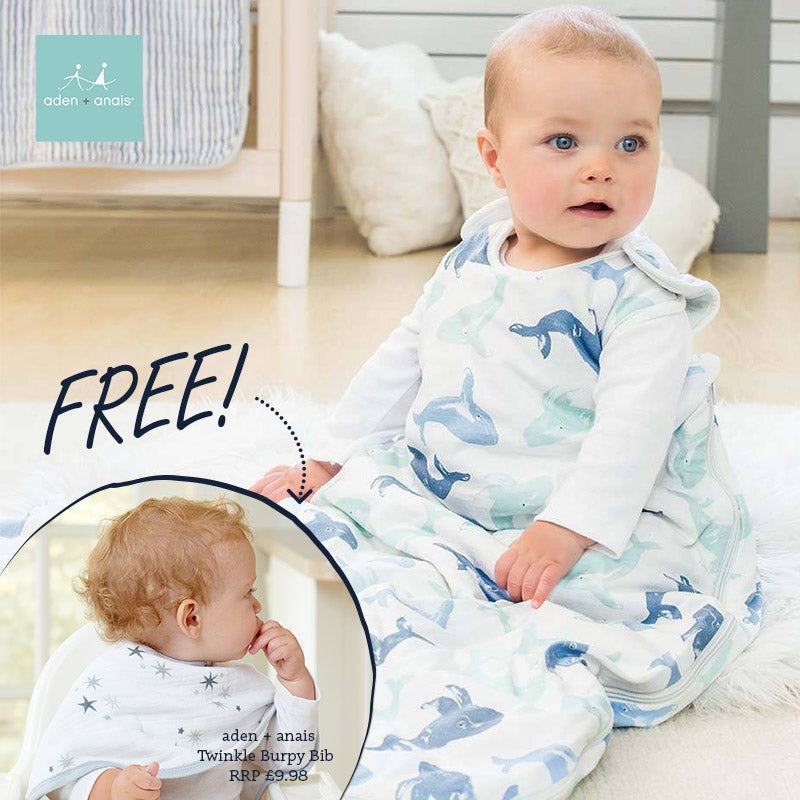 qualifies for free aden + anais Burpy Bib at checkout