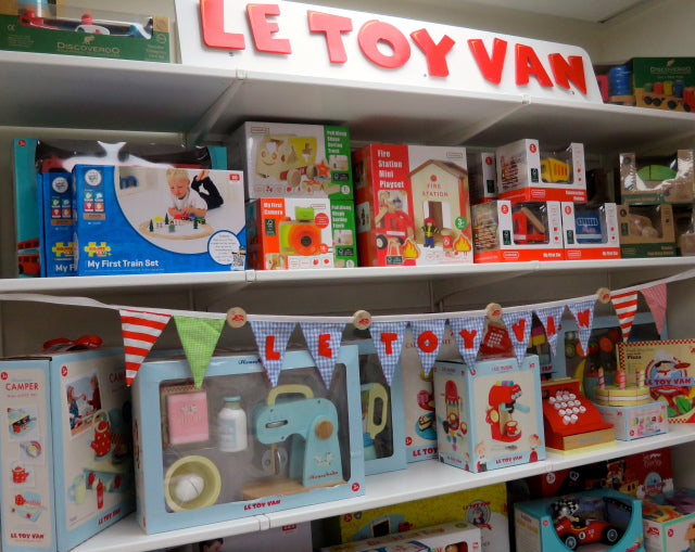 Only the best, high quality wooden toys – my girls particularly love the cake stand by Le Toy Van!