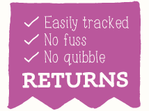 No quibble returns policy