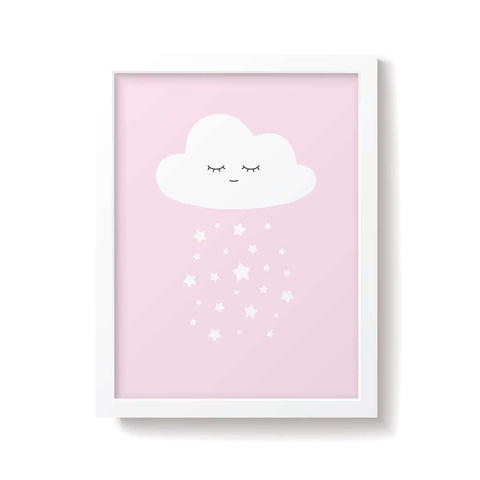 Snuz Cloud Nursery Print - Pink-Nursery Accessories- Natural Baby Shower