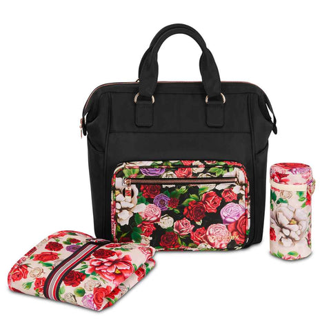 Cybex Changing Bag - Spring Blossom - Dark-Changing Bags- Natural Baby Shower