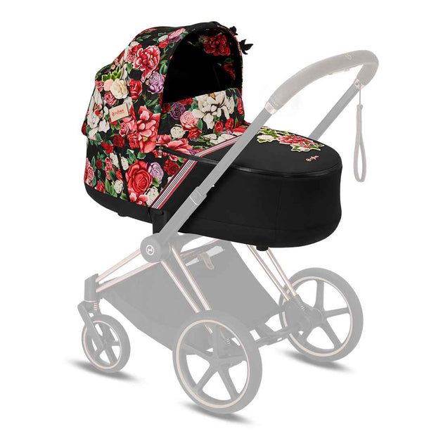 Cybex Priam Carrycot Lux - Spring Blossom Dark-Carrycots- Natural Baby Shower