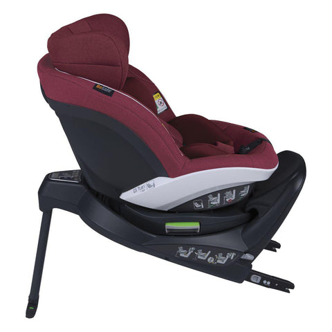BeSafe iZi Turn i-Size Car Seat - Burgundy Melange-Car Seats- Natural Baby Shower