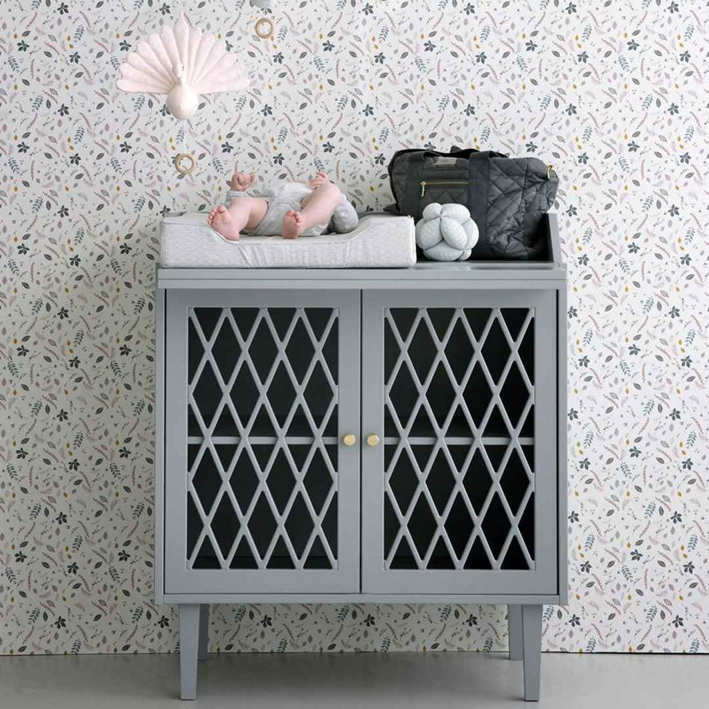 Cam Cam Copenhagen Harlequin Changing Table - Petroleum-Changing Tables- Natural Baby Shower
