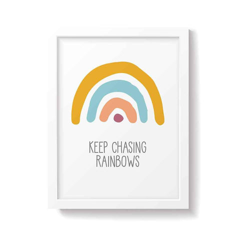 Snuz Keep Chasing Rainbows Nursery Print - Bold-Artwork & Stickers- Natural Baby Shower