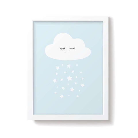 Snuz Cloud Nursery Print - Blue-Nursery Accessories- Natural Baby Shower