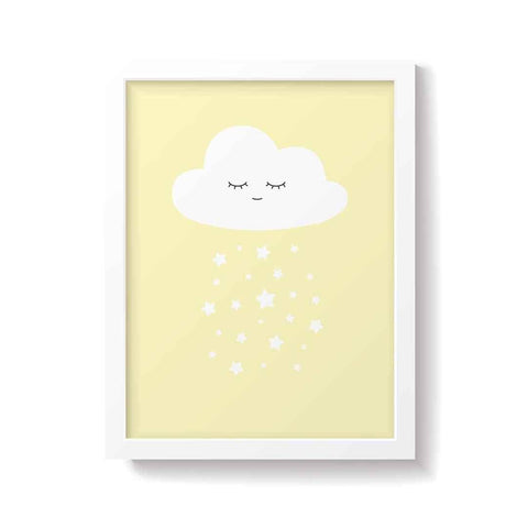 Snuz Cloud Nursery Print - Yellow-Nursery Accessories- Natural Baby Shower