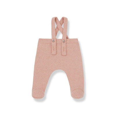 1+ in the family Alins Overalls - Rose-Dungarees- Natural Baby Shower