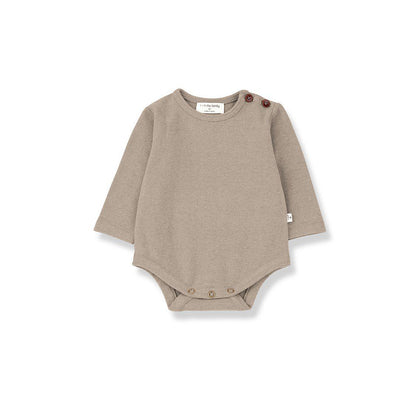 1+ in the family Astun Body - Beige-Bodysuits- Natural Baby Shower