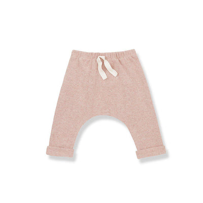 1+ in the family Avoriaz Baggy Pants - Beige/Rose-Pants- Natural Baby Shower