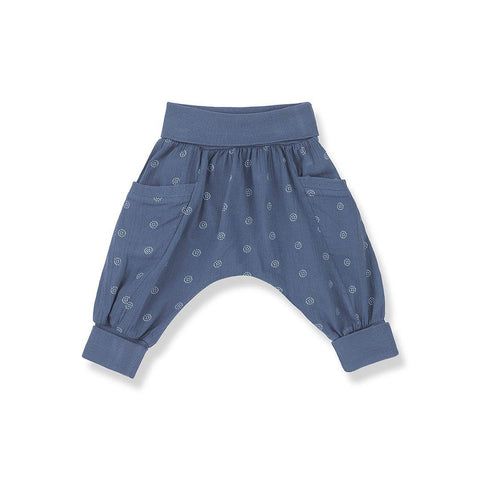 1+ in the family Gaia Baggy Pants - Azzurro-Pants- Natural Baby Shower