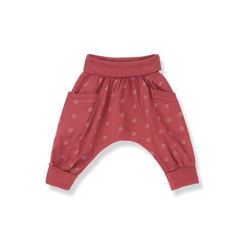 1+ in the family Gaia Baggy Pants - Red-Pants- Natural Baby Shower