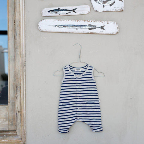 1+ in the family Monaco Romper - Azzurro-Rompers- Natural Baby Shower