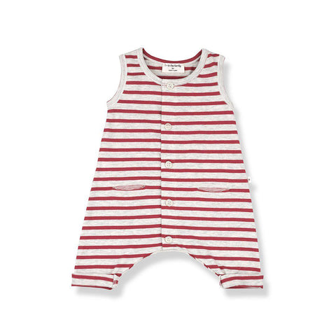1+ in the family Monaco Romper - Red-Rompers- Natural Baby Shower