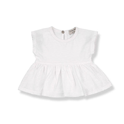 1+ in the family Ponza Blouse - Off White-Short Sleeves- Natural Baby Shower