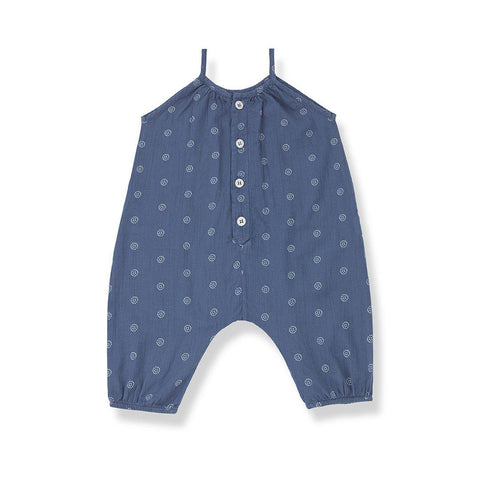 1+ in the family Rabat Overalls - Azzurro-Dungarees- Natural Baby Shower