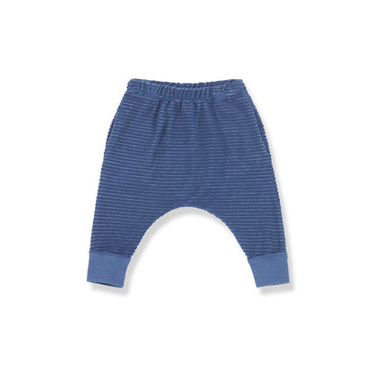 1+ in the family Sassari Baggy Pants - Blue Notte-Pants- Natural Baby Shower