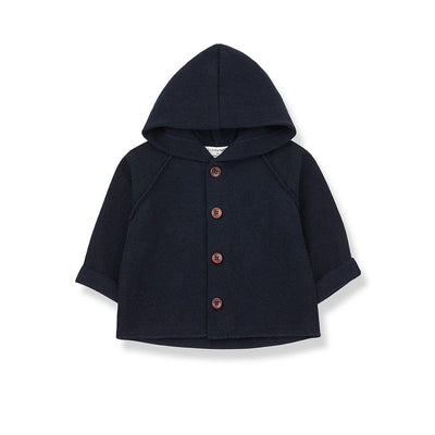 1+ in the family Sau Hood Jacket - Blue Notte-Hoodies- Natural Baby Shower