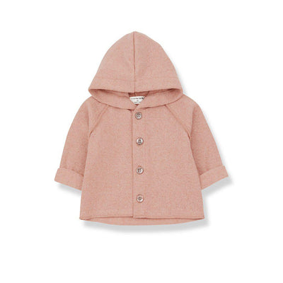 1+ in the family Sau Hood Jacket - Rose-Hoodies- Natural Baby Shower