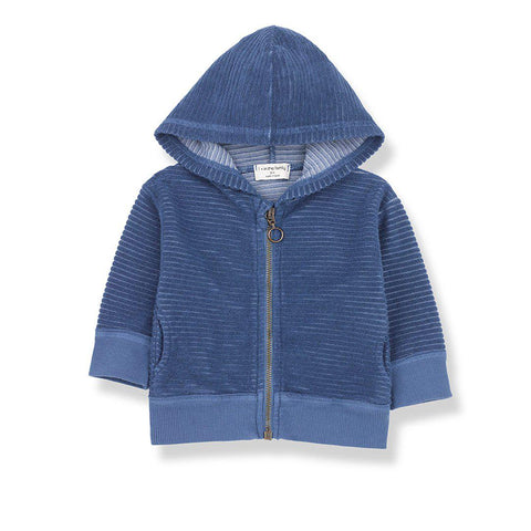 1+ in the family Sinnai Hood Jacket - Azzurro-Coats & Snowsuits- Natural Baby Shower