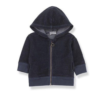 1+ in the family Sinnai Hood Jacket - Blue Notte-Coats & Snowsuits- Natural Baby Shower