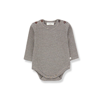 1+ in the family Whistler Body - Beige/Blue Notte-Bodysuits- Natural Baby Shower