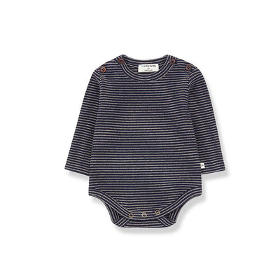 1+ in the family Whistler Body - Blue Notte/Beige-Bodysuits- Natural Baby Shower