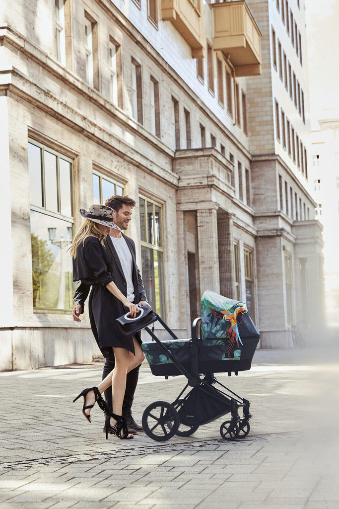 Cybex Mios Carrycot - Birds of Paradise Lifestyle