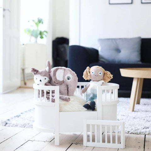Sebra Dolls Bed - White-Play Sets- Natural Baby Shower