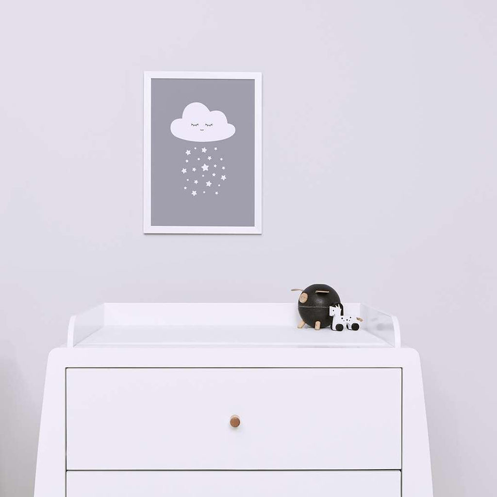 Snuz Cloud Nursery Print - Grey-Artwork & Stickers- Natural Baby Shower