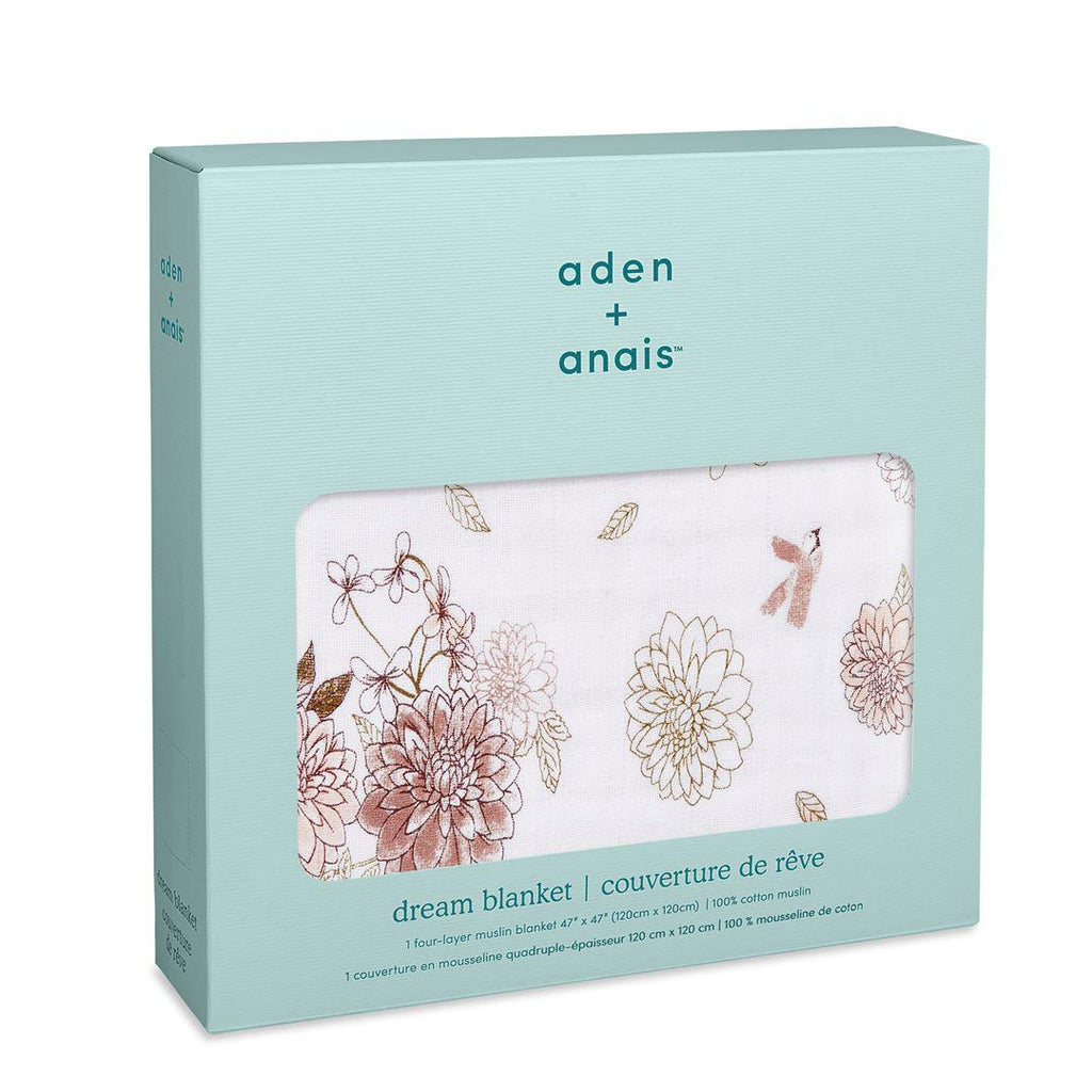 aden + anais Muslin Dream Blanket - Dahlia-Blankets- Natural Baby Shower