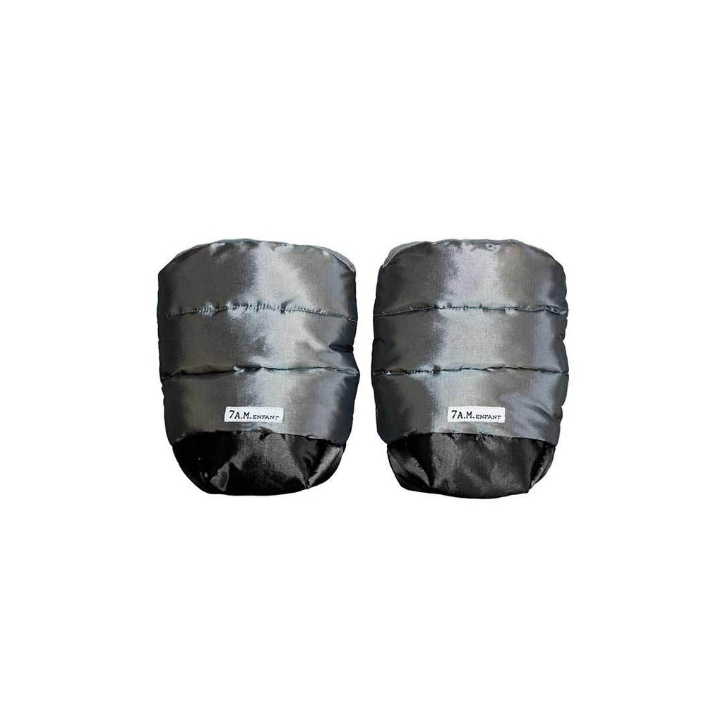 7AM Enfant WarMMuffs Hand Warmers - Metallic Grey/Charcoal-Hand Warmers- Natural Baby Shower