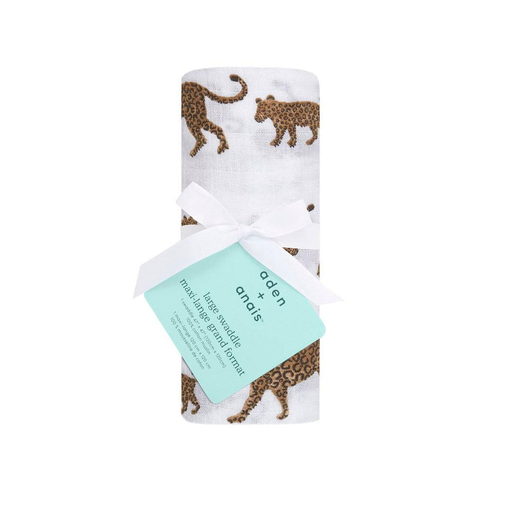 aden + anais Single Muslin Swaddle - Hear Me Roar-Swaddling Wraps- Natural Baby Shower