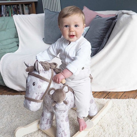 A Little Bird Told Me - Biscuit & Skip Rocking Horse - 12m+-Ride-on & Rockers-Default- Natural Baby Shower