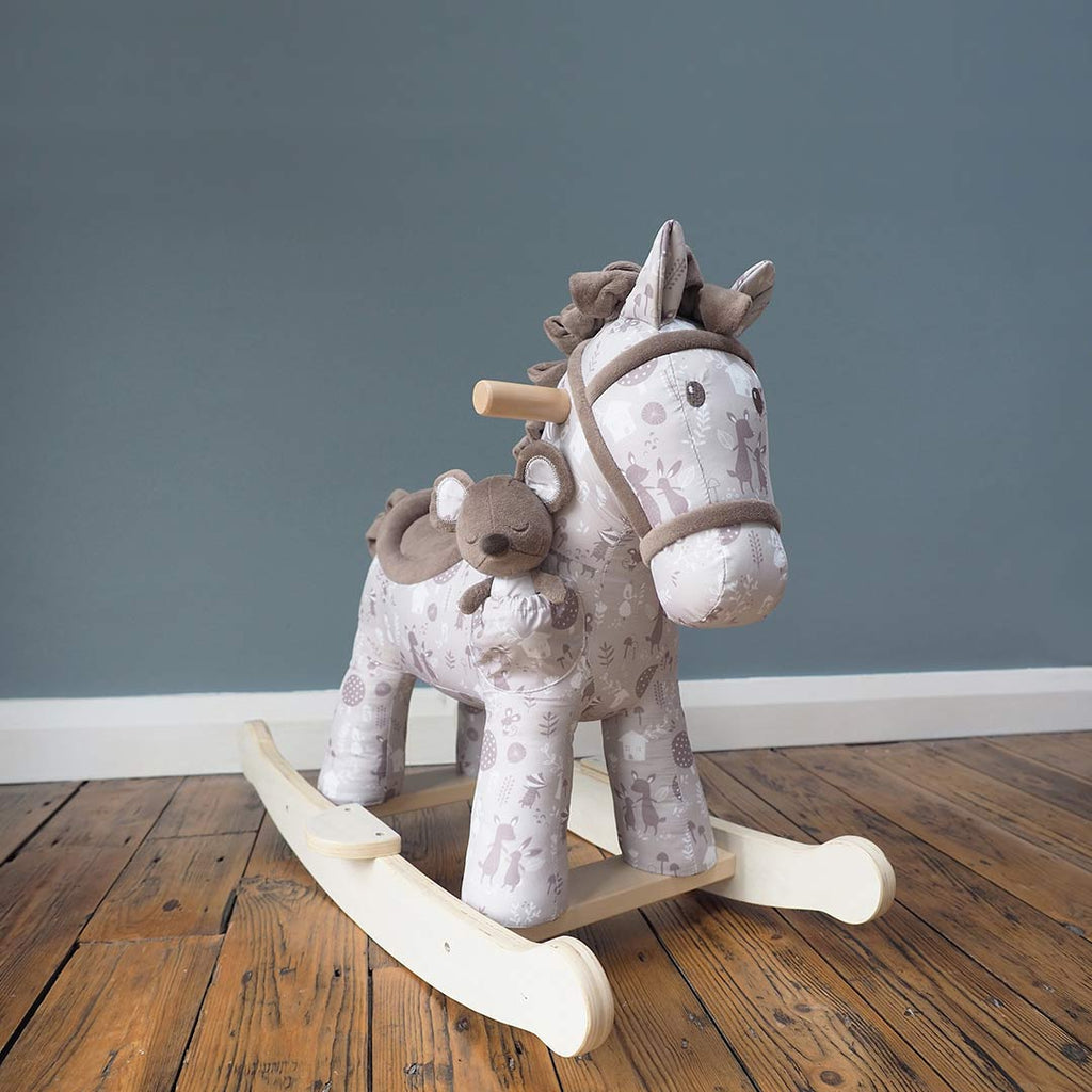 A Little Bird Told Me - Biscuit & Skip Rocking Horse - 9m+-Ride-on & Rockers-Default- Natural Baby Shower