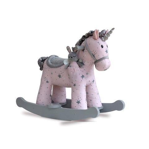 A Little Bird Told Me - Celeste & Fae Rocking Unicorn - 12m+-Ride-on & Rockers-Default- Natural Baby Shower