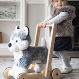 A Little Bird Told Me - Mishka Dog Push Along-Baby Walkers- Natural Baby Shower