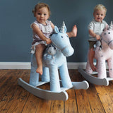 A Little Bird Told Me - Moonbeam & Rae Rocking Unicorn - 12m+-Ride-on & Rockers-Default- Natural Baby Shower