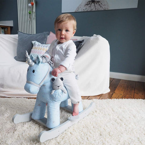 A Little Bird Told Me - Moonbeam & Rae Rocking Unicorn - 9m+-Ride-on & Rockers-Default- Natural Baby Shower