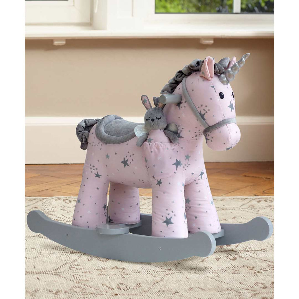A Little Bird Told Me - Rocking Horse - Celeste & Fae Unicorn-Ride-on & Rockers- Natural Baby Shower