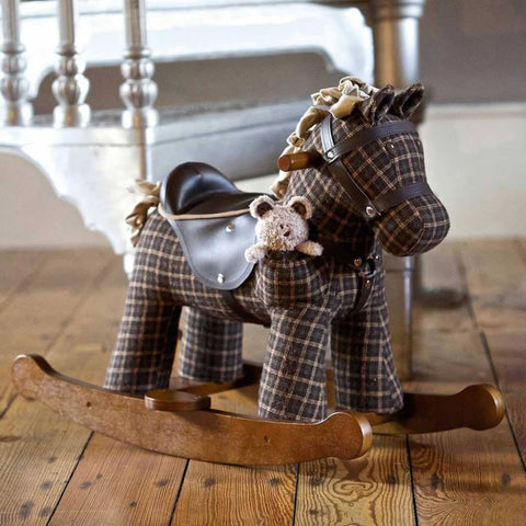 A Little Bird Told Me - Rocking Horse - Rufus & Ted-Ride-on & Rockers-Default- Natural Baby Shower