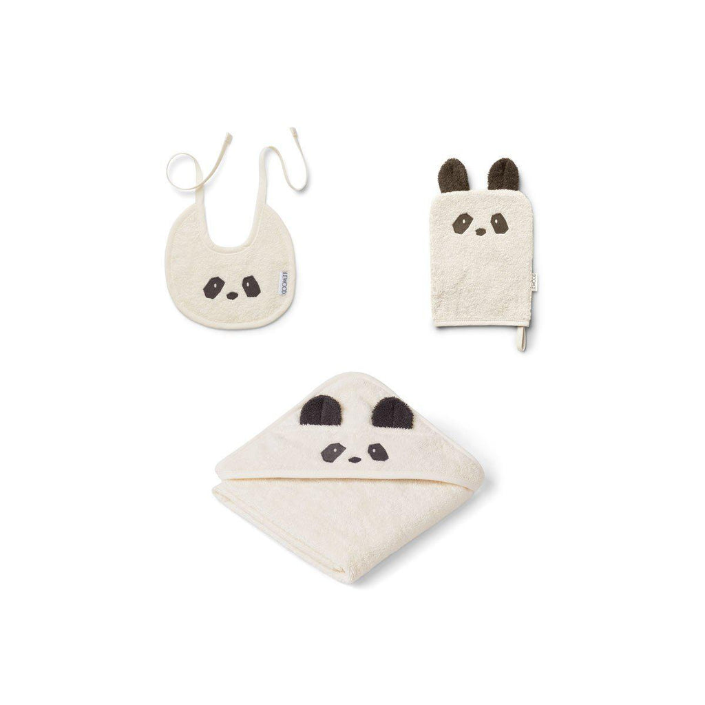 Liewood Adele Panda Terry Baby Package - Creme de la Creme-Gift Sets- Natural Baby Shower