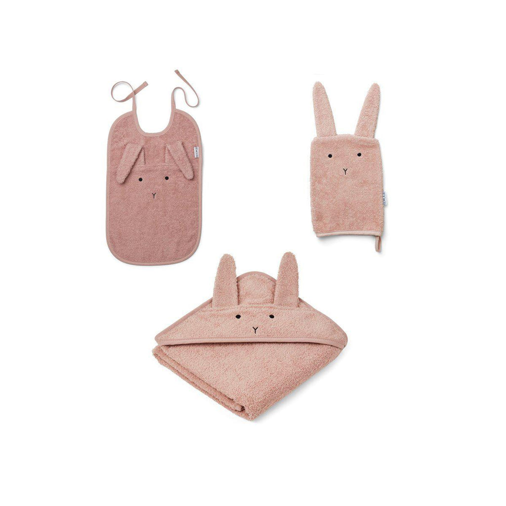 Liewood Cleo Rabbit Kids Terry Package - Rose-Gift Sets- Natural Baby Shower