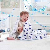 Aden & Anais Muslin Dream Blanket in High Seas Lifestyle