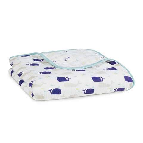aden + anais Muslin Dream Blanket - High Seas - Blankets - Natural Baby Shower