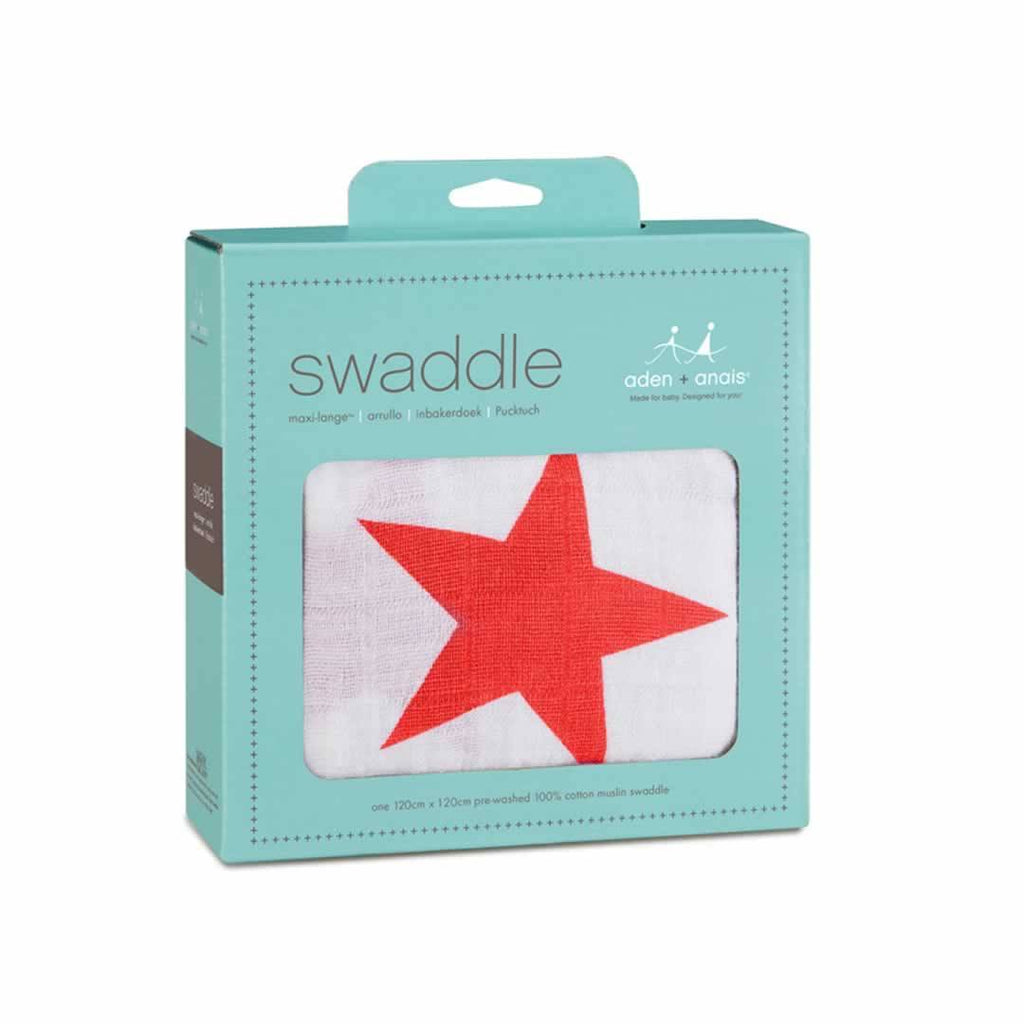 Aden & Anais Muslin Swaddle Radiant Red
