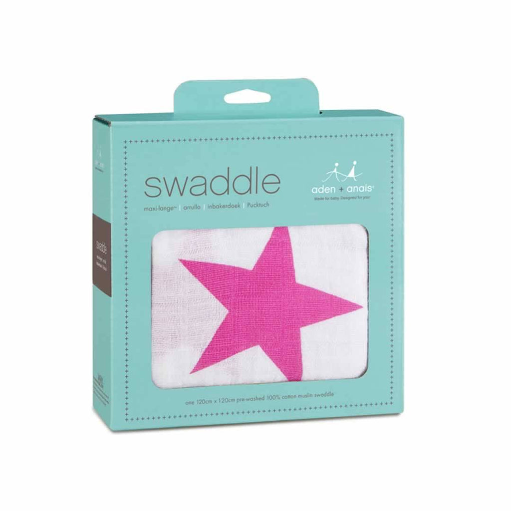 aden + anais Muslin Swaddle - Twinkle Pink - Swaddling Wraps - Natural Baby Shower