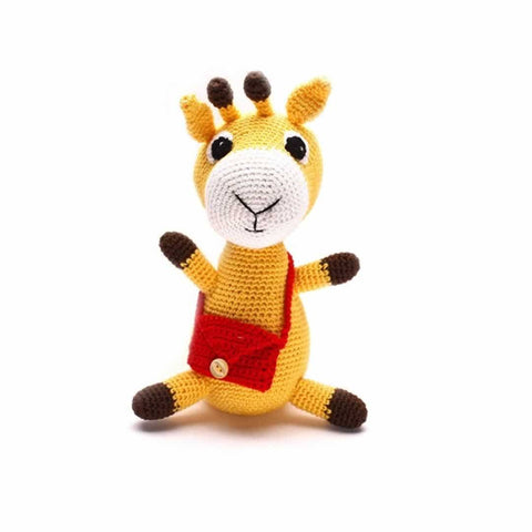 Ana Gibb Knitted Giraffe-Soft Toys-Default- Natural Baby Shower